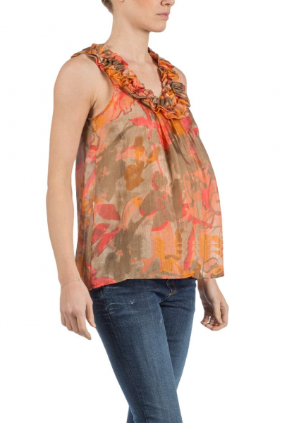 Maternity Top with Rouched Collar
