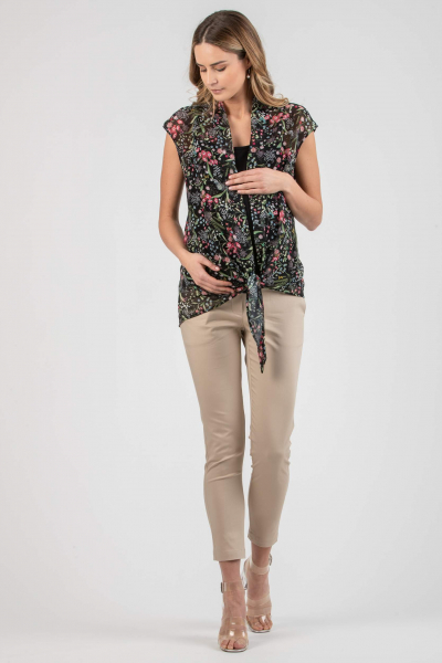 Floral Printed Draped Maternity & Nursing Top