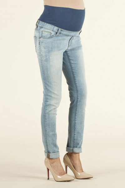 Light Wash Skinny Fit Maternity Jeans