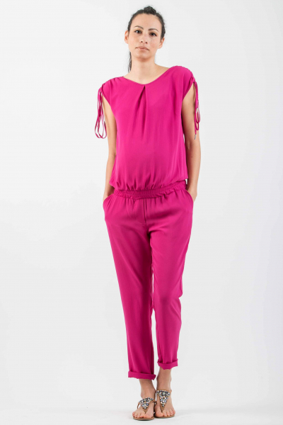 Maternity Jumpsuit with Shoulder Detail