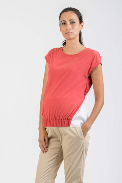Maternity T-shirt with Drawstring