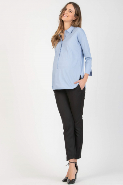 Overhead Maternity & Nursing Shirt with Round Hems