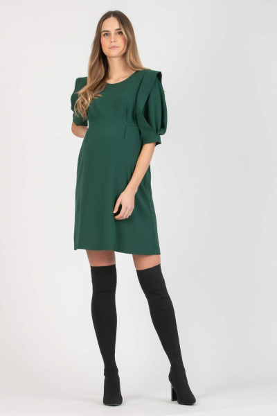 Maternity Dress with Elegant Petal Sleeves with Cuffs