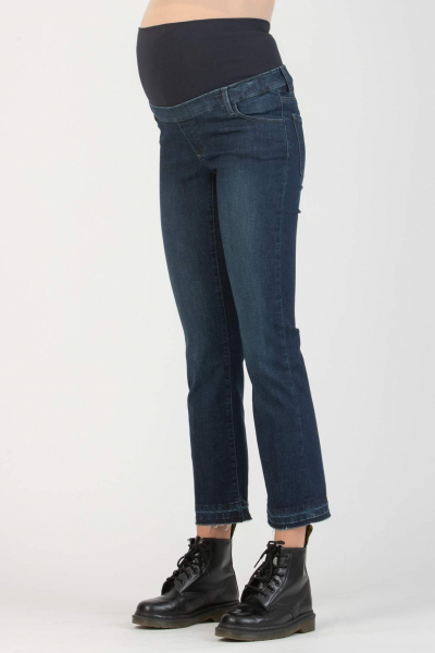 Slim Flared Maternity Jeans with Seamless Hems