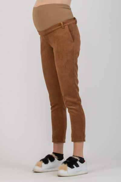 Slim Maternity Trousers in Corduroy