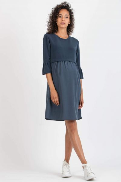 Modal and Satin Maternity & Nursing Dress