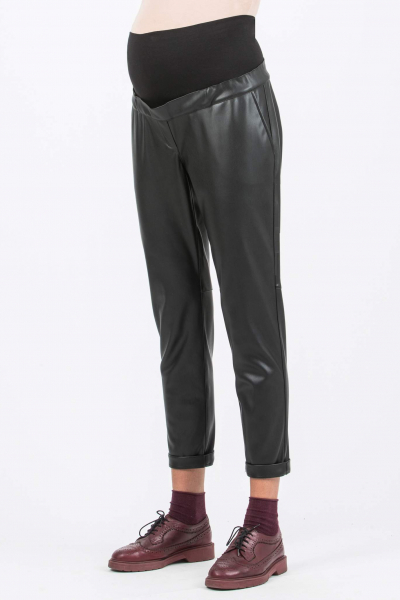 Relaxed Fit Maternity Trousers in Eco-leather