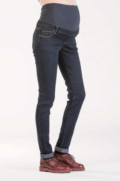 Jeans Premaman Super Stretch in Viscosa Lavaggio Scuro