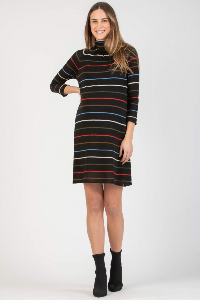 Striped Maternity Dress with Ribbon