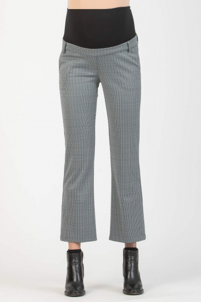 Flared Cropped Maternity Jacquard Trousers