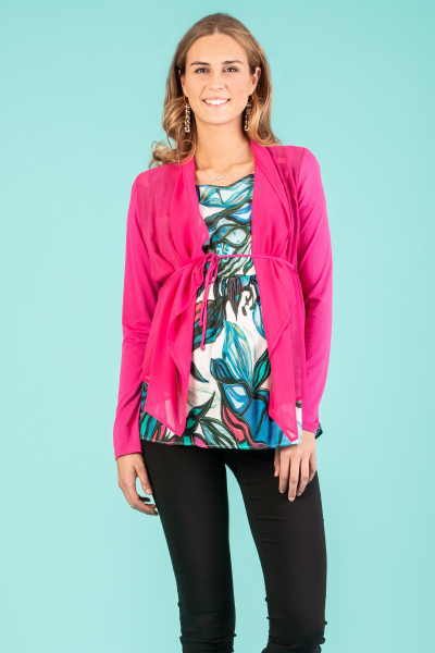 Maternity Cardigan with Front Side in Chiffon