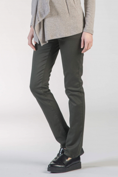 Maternity Trousers in Slightly Stretch Fabric