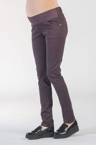 Under Belly Maternity Trousers in Cotton Steen