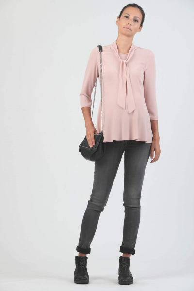 Super-Stretch Maternity Grey Jeans in Viscose