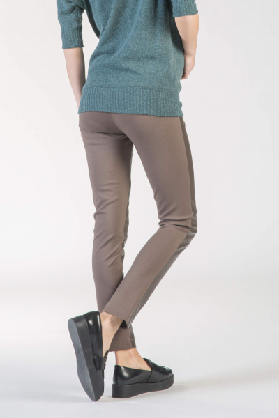 Leather Panel Maternity Leggings