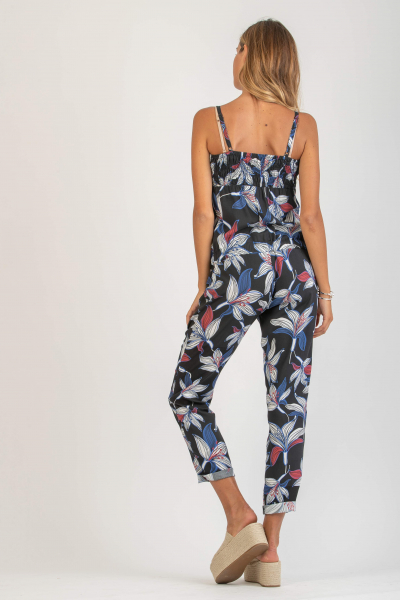 Maternity Jumpsuit in Printed Viscose Voile