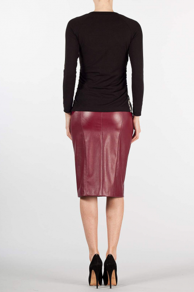 Maternity pencil eco-Leather skirt