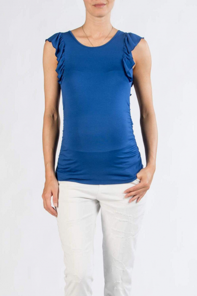Maternity T-shirt with Rouches