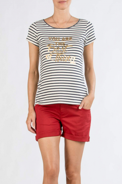 Striped Boxy Maternity T-Shirt