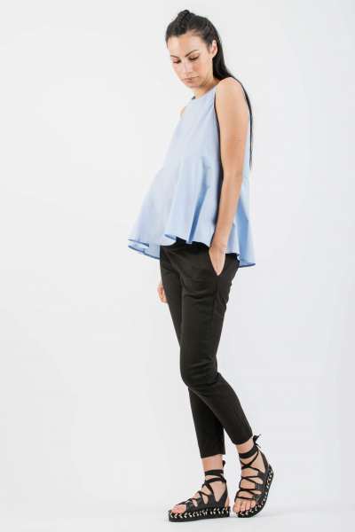 Asymmetrical Maternity Blouse