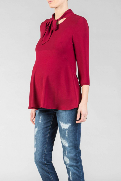 Maternity Blouse with Bow
