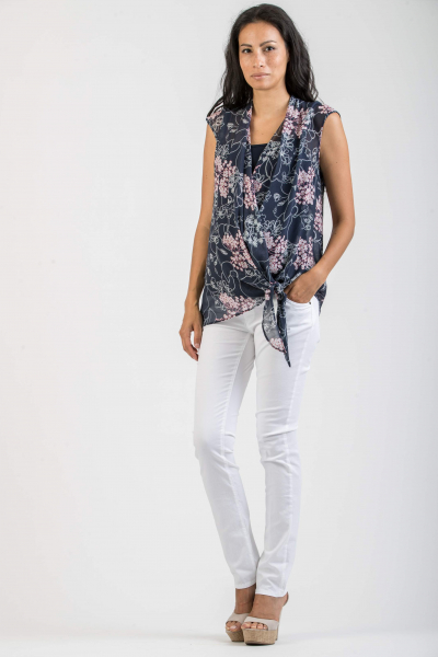 Floral Maternity & Nursing Top in Chiffon