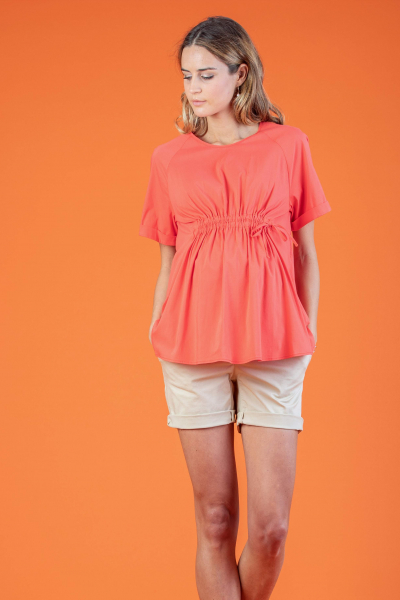 Maternity Top with Front Drawstring