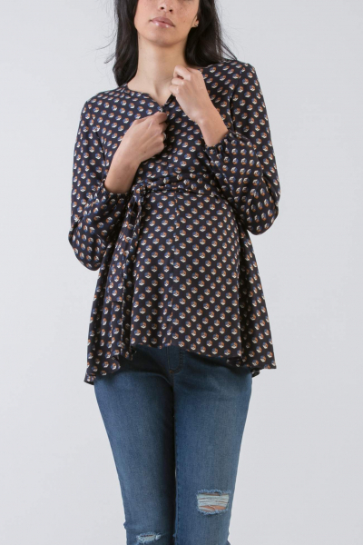 Maternity & Nursing Printed Blouse