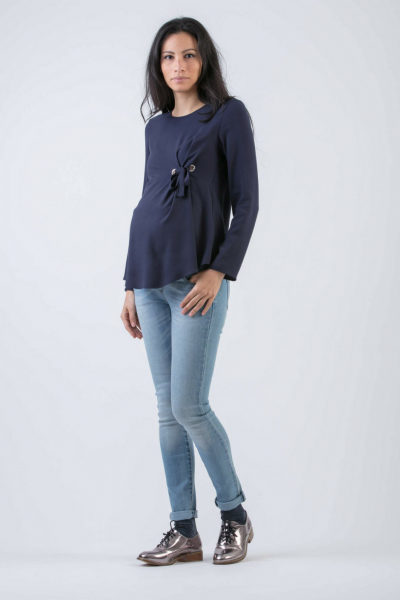 Viscose Maternity Blouse with Rings