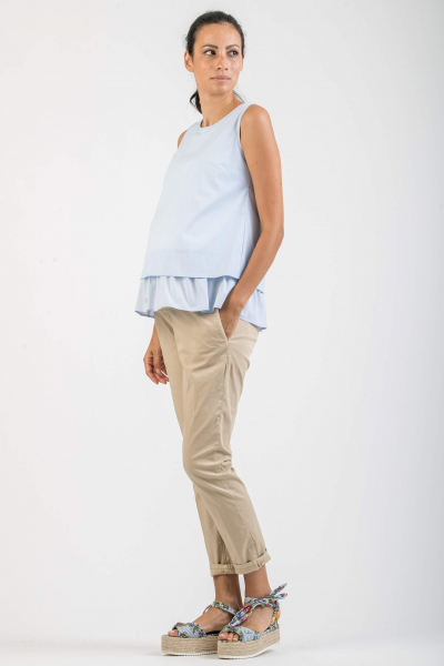 Maternity Tank Top with Ruffle
