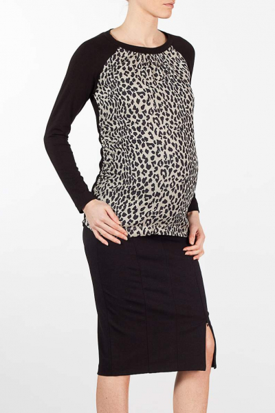 Maternity Blouse with front Printed Panel