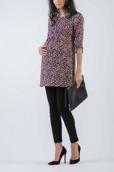 Empire Waist Maternity Printed Tunic