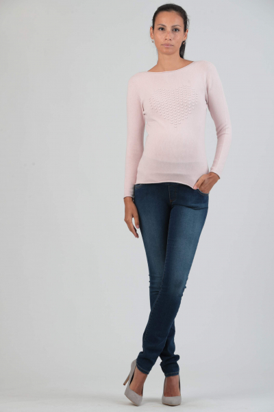 Maternity Sweater with Heart Detail