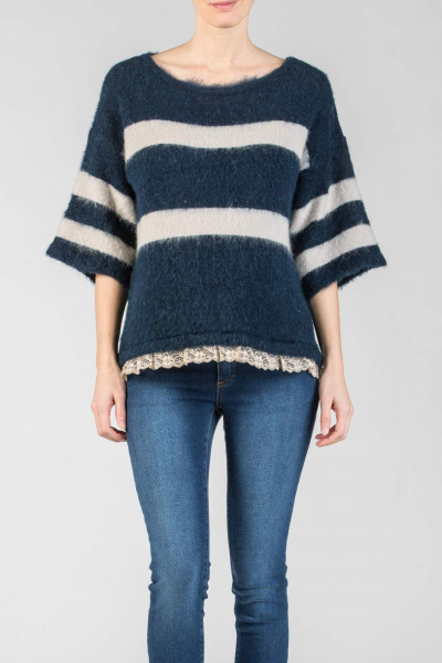 Striped Oversize Maternity Sweater