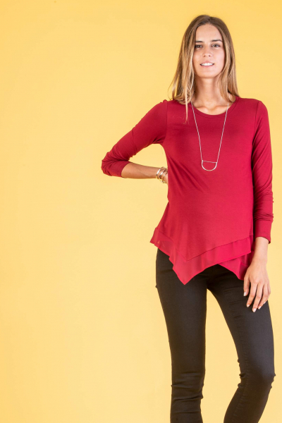 Maternity Asymmetric Top