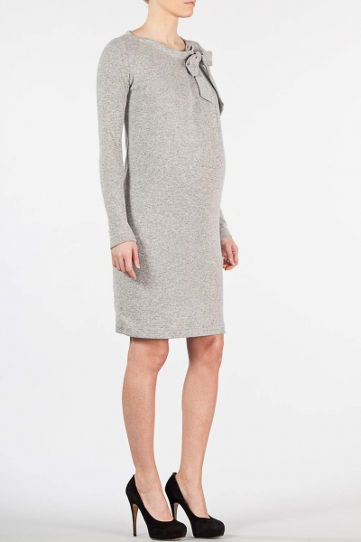 Angora-wool Maternity Dress with bow