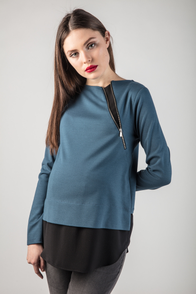 Maternity Shirt with Contrasting Hem