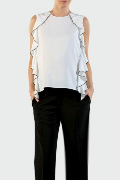 Maternity Blouse with Volant