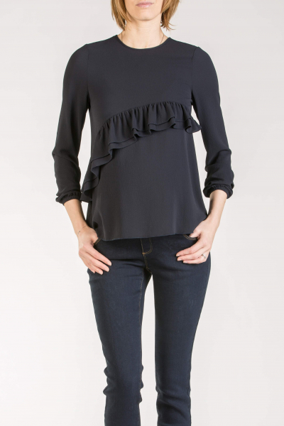 Maternity Blouse with Ruffles
